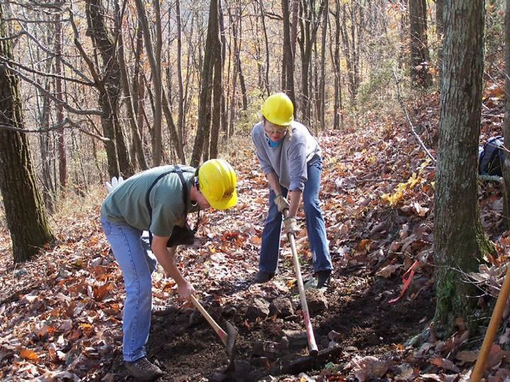 Volunteers play an important role in National Forest trail maintenance