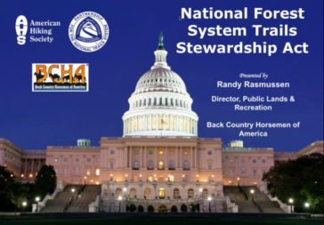 "BCHA Provides the Rationale for Why Congress Must Pass the ""Forest Trail Stewardship"" Bill"