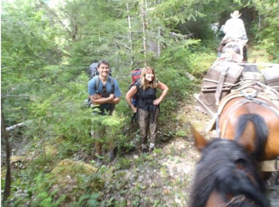 Meeting Hikers with Your Pack String in Tow